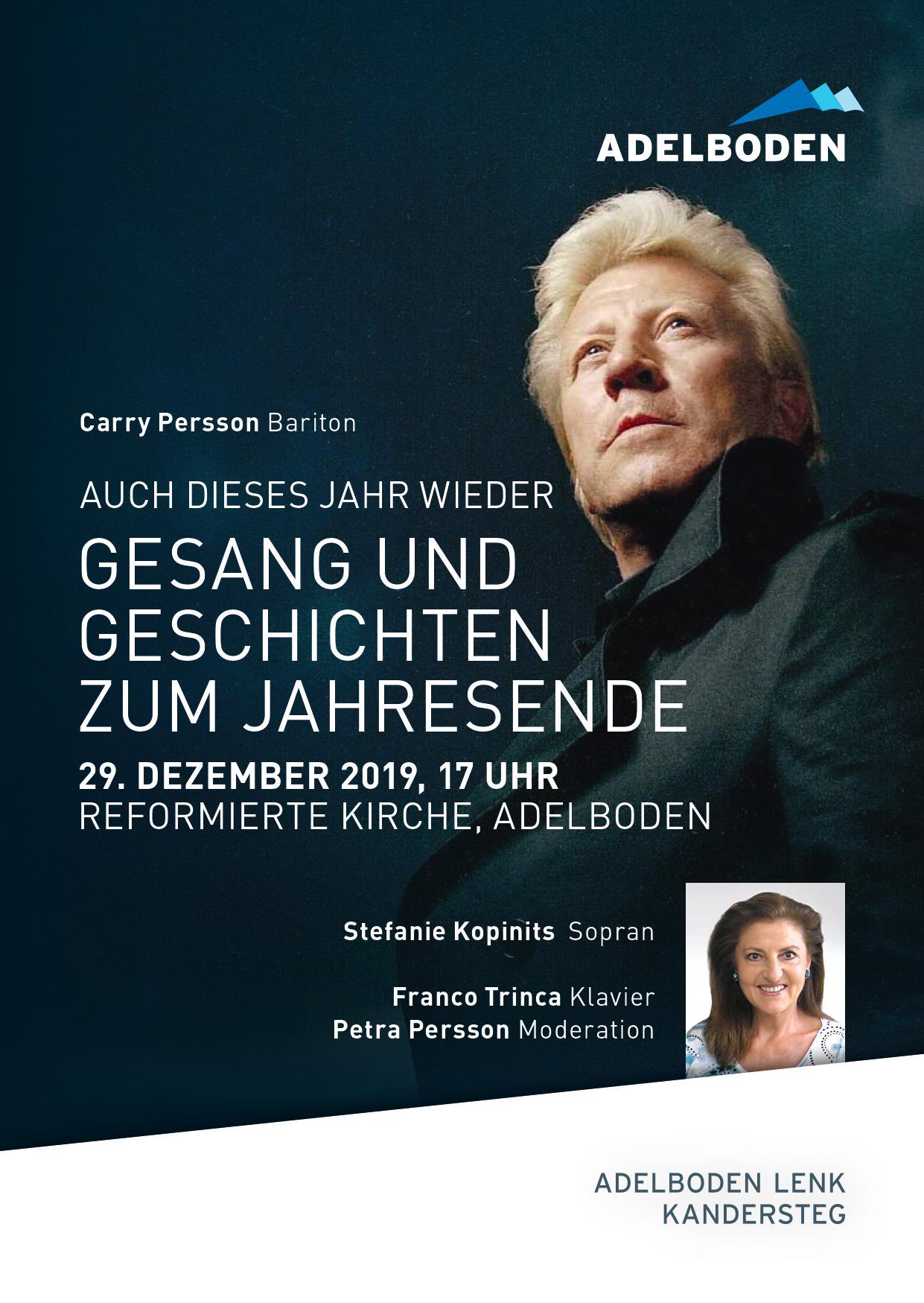 Carry Persson - Bariton - Reformierte Kirche Adelboden